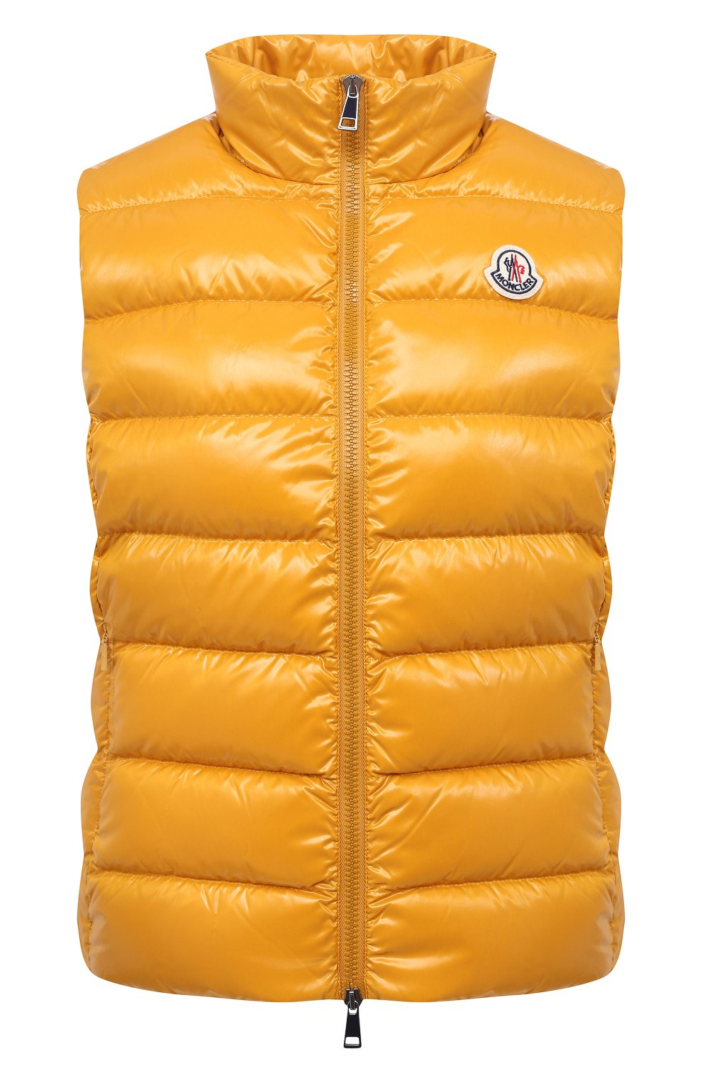 Женский пуховый жилет MONCLER желтого цвета, арт. F2-093-1A525-00-68950 | Фото 1
