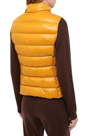 Женский пуховый жилет MONCLER желтого цвета, арт. F2-093-1A525-00-68950 | Фото 4