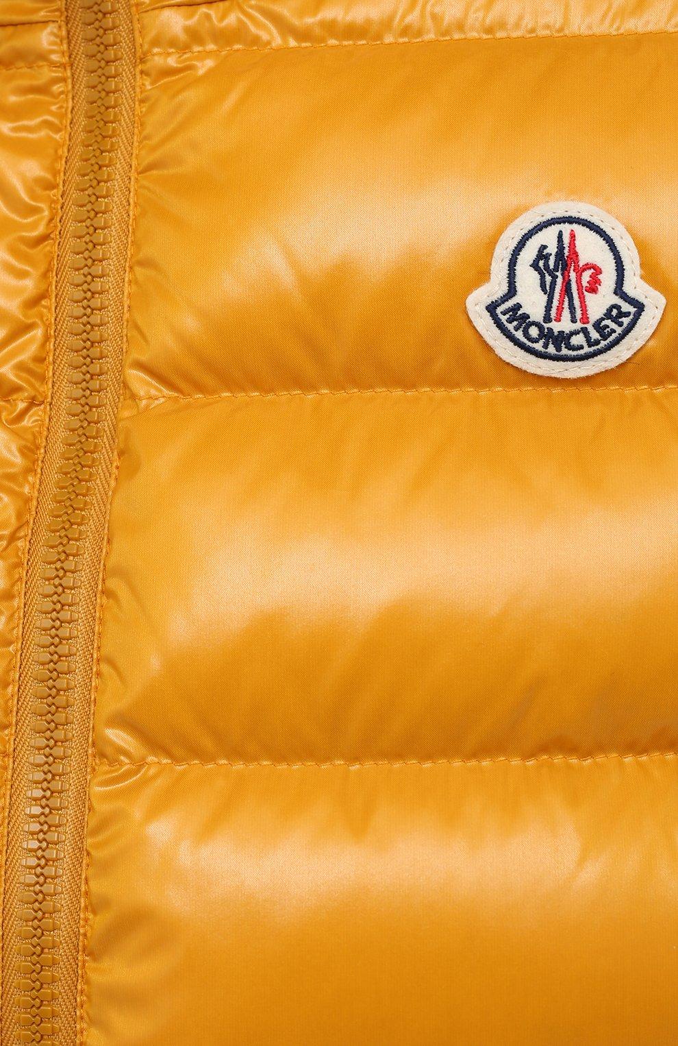 Женский пуховый жилет MONCLER желтого цвета, арт. F2-093-1A525-00-68950 | Фото 5