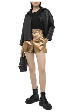 Женские шорты MSGM бронзового цвета, арт. 2941MDB11 207684 | Фото 2