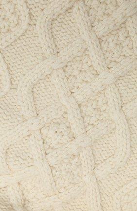 Женский шарф из шерсти и кашемира LOEWE белого цвета, арт. S359257X01 | Фото 2