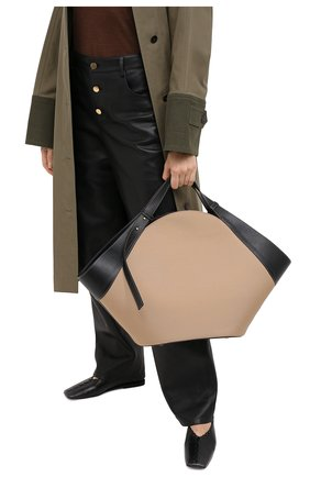Женская сумка basket YUZEFI бежевого цвета, арт. YUZPF20-BA-04 | Фото 2