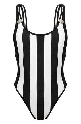Женский слитный купальник BALMAIN черно-белого цвета, арт. BKBGC0080 | Фото 1