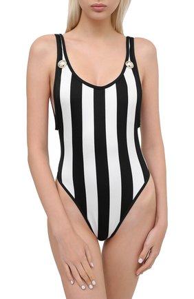 Женский слитный купальник BALMAIN черно-белого цвета, арт. BKBGC0080 | Фото 2