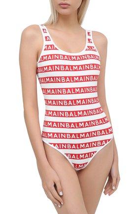 Женский слитный купальник BALMAIN красного цвета, арт. BKBU00010 | Фото 2