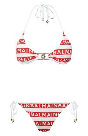 Женский раздельный купальник BALMAIN красного цвета, арт. BKBV40010 | Фото 1