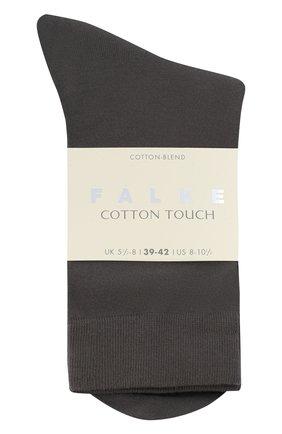 Женские носки FALKE серого цвета, арт. 47673.   Фото 1 (Материал внешний: Хлопок, Синтетический материал)