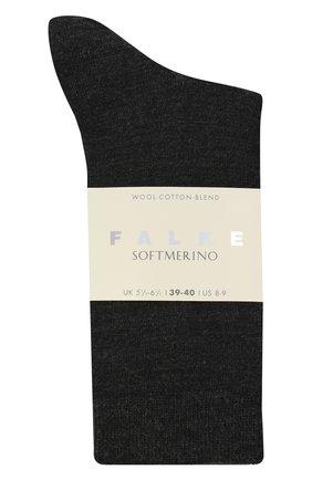 Женские носки FALKE серого цвета, арт. 47488.   Фото 1 (Материал внешний: Шерсть)
