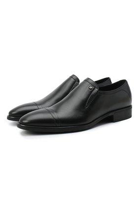 Мужские кожаные лоферы ALDO BRUE черного цвета, арт. AB602FPK-NL.P.2D70R | Фото 1