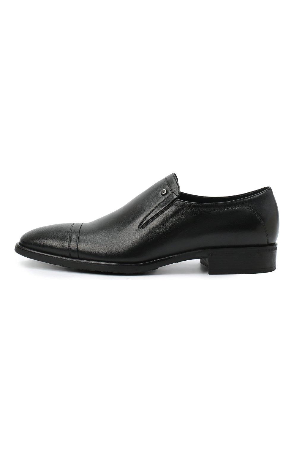 Мужские кожаные лоферы ALDO BRUE черного цвета, арт. AB602FPK-NL.P.2D70R | Фото 3