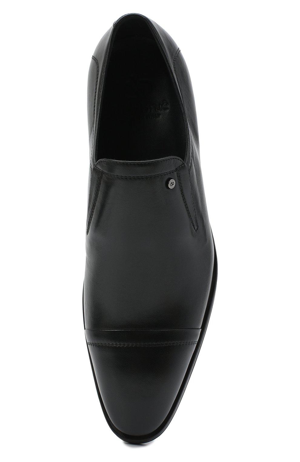 Мужские кожаные лоферы ALDO BRUE черного цвета, арт. AB602FPK-NL.P.2D70R | Фото 5