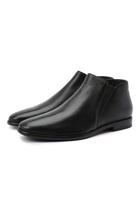 Мужские кожаные сапоги ALDO BRUE черного цвета, арт. AB7117.MP.P.FF90CPB   Фото 1