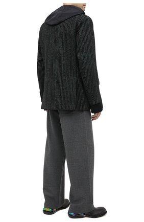 Мужской кожаные дерби MAISON MARGIELA черного цвета, арт. S57WQ0103/P3562 | Фото 2