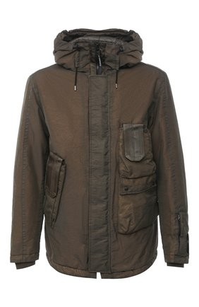 Мужская утепленная куртка C.P. COMPANY хаки цвета, арт. 09CM0W188A-005686G | Фото 1