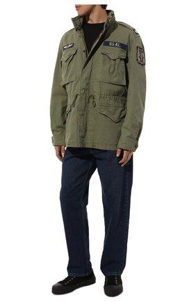 Мужская хлопковая куртка POLO RALPH LAUREN хаки цвета, арт. 710722923 | Фото 2