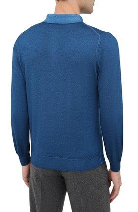 Мужское поло из кашемира и шелка ZILLI синего цвета, арт. MBU-PZ002-NUAG1/ML01 | Фото 5