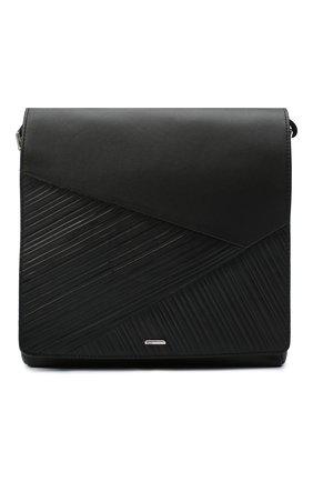 Мужская кожаная сумка ZILLI черного цвета, арт. MJL-0BM10-A0920/0001   Фото 1 (Ремень/цепочка: На ремешке; Материал: Натуральная кожа)
