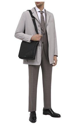 Мужская кожаная сумка ZILLI черного цвета, арт. MJL-0BM10-A0920/0001   Фото 2 (Ремень/цепочка: На ремешке; Материал: Натуральная кожа)