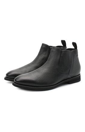 Мужские кожаные сапоги BARRETT черного цвета, арт. 202U019.9/CERV0 | Фото 1