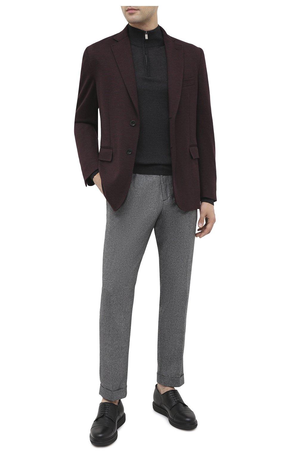 Мужские кожаные дерби BARRETT черного цвета, арт. BRERA-20.2/CERV0 | Фото 2