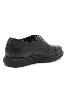 Мужские кожаные дерби BARRETT черного цвета, арт. BRERA-20.2/CERV0 | Фото 4