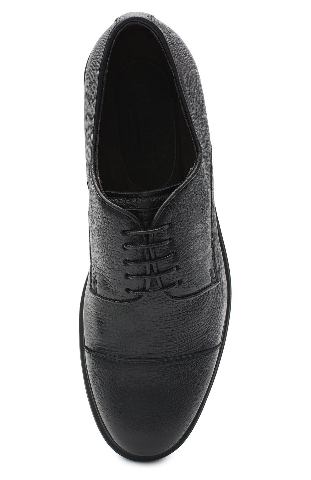 Мужские кожаные дерби BARRETT черного цвета, арт. BRERA-20.2/CERV0 | Фото 5