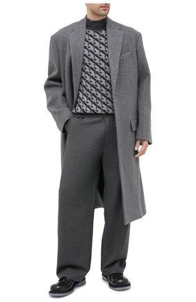 Мужской кожаные дерби BOTTEGA VENETA темно-зеленого цвета, арт. 631313/VBS30 | Фото 2