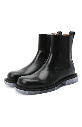 Мужские кожаные челси BOTTEGA VENETA черного цвета, арт. 632510/VBS30 | Фото 1