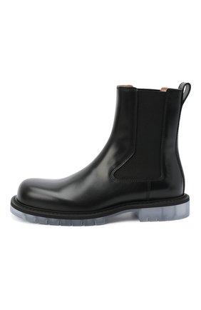 Мужские кожаные челси BOTTEGA VENETA черного цвета, арт. 632510/VBS30 | Фото 3