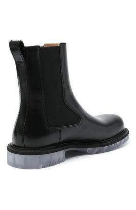 Мужские кожаные челси BOTTEGA VENETA черного цвета, арт. 632510/VBS30 | Фото 4