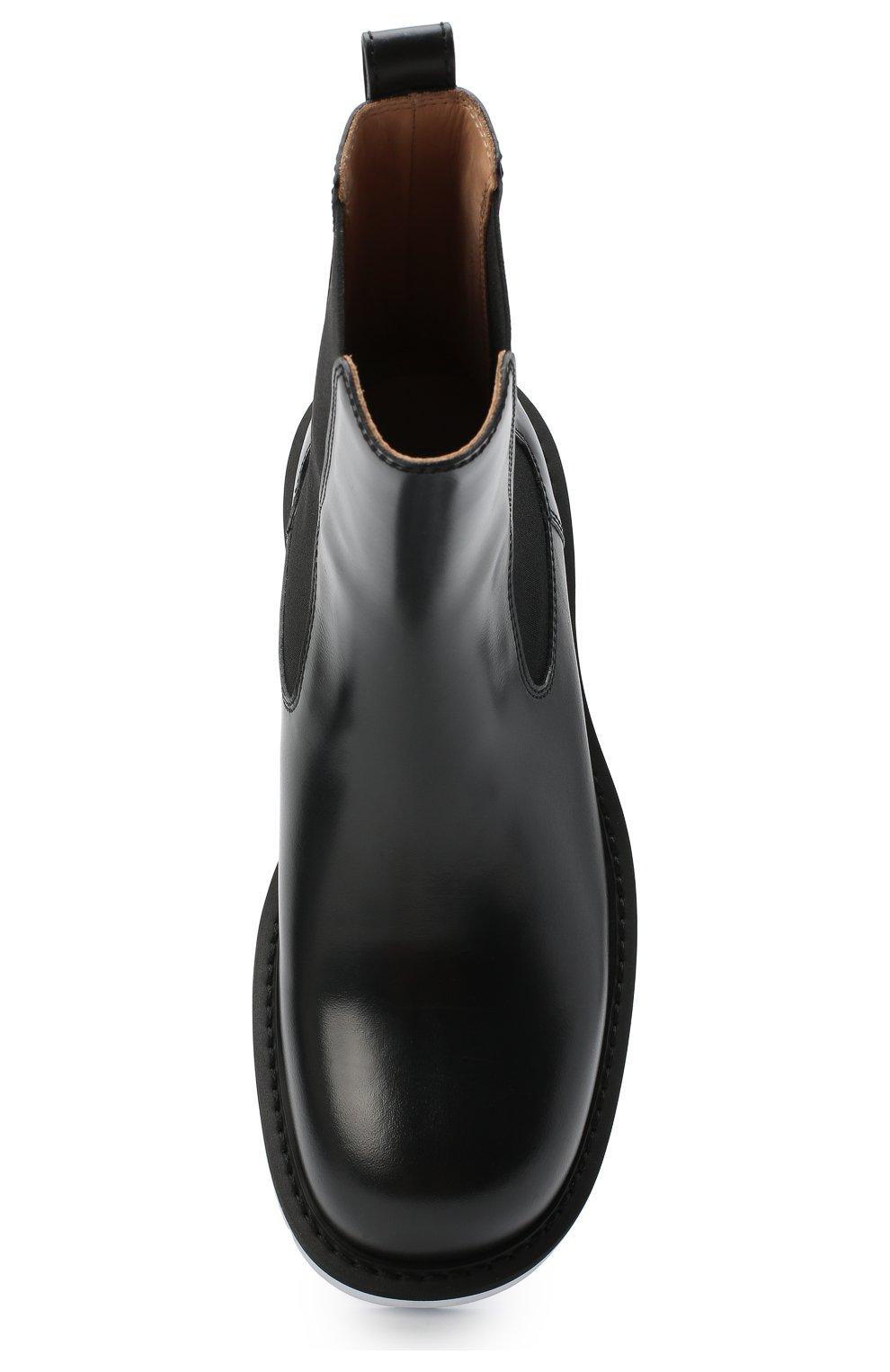 Мужские кожаные челси BOTTEGA VENETA черного цвета, арт. 632510/VBS30 | Фото 5