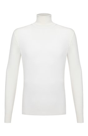 Мужской шерстяная водолазка CRUCIANI белого цвета, арт. CU26.201 | Фото 1