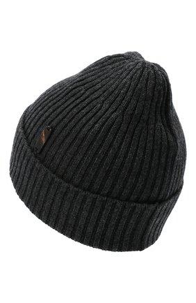 Мужская кашемировая шапка CORTIGIANI темно-серого цвета, арт. 911129/0000 | Фото 2