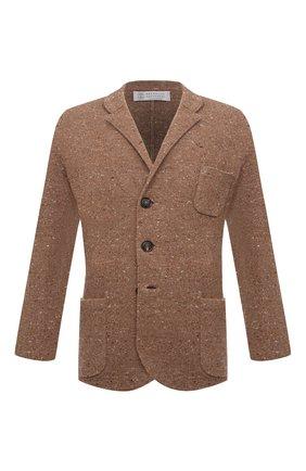 Мужской пиджак из шерсти и кашемира BRUNELLO CUCINELLI коричневого цвета, арт. M4673906   Фото 1