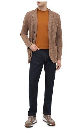 Мужской пиджак из шерсти и кашемира BRUNELLO CUCINELLI коричневого цвета, арт. M4673906   Фото 2
