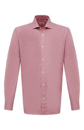 Мужская хлопковая сорочка LUCIANO BARBERA красного цвета, арт. 155429/72701   Фото 1