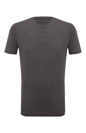 Мужская футболка из хлопка и кашемира CAPOBIANCO темно-коричневого цвета, арт. 9M660.WS00. | Фото 1