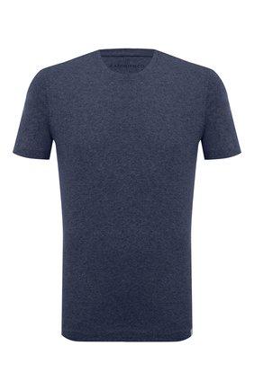Мужская футболка из хлопка и кашемира CAPOBIANCO синего цвета, арт. 9M660.WS00. | Фото 1