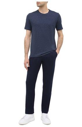 Мужская футболка из хлопка и кашемира CAPOBIANCO синего цвета, арт. 9M660.WS00. | Фото 2