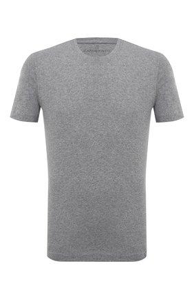 Мужская футболка из хлопка и кашемира CAPOBIANCO серого цвета, арт. 9M660.WS00.   Фото 1