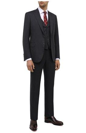 Мужские кожаные оксфорды SANTONI коричневого цвета, арт. MCCR16229MC1HNGWT50 | Фото 2