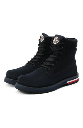 Мужские замшевые ботинки vancouver MONCLER темно-синего цвета, арт. F2-09A-4F700-00-02S48 | Фото 1