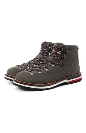 Мужские замшевые ботинки peak MONCLER серого цвета, арт. F2-09A-4G700-00-02SLS | Фото 1