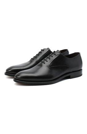 Мужские кожаные оксфорды W.GIBBS черного цвета, арт. 7255025/2126 | Фото 1
