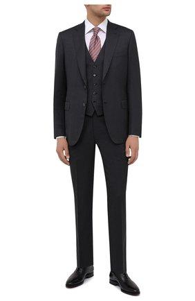 Мужские кожаные оксфорды W.GIBBS черного цвета, арт. 7255025/2126 | Фото 2