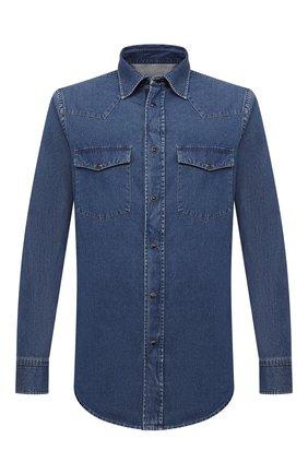 Мужская джинсовая рубашка BRIONI темно-синего цвета, арт. SCDQ0L/08D31 | Фото 1