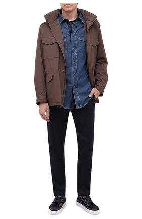 Мужская джинсовая рубашка BRIONI темно-синего цвета, арт. SCDQ0L/08D31 | Фото 2