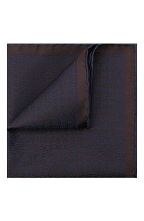 Мужской шелковый платок BRIONI коричневого цвета, арт. 071000/0944C | Фото 1