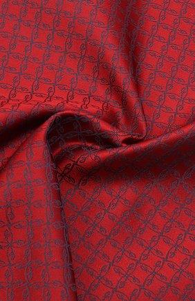 Мужской шелковый платок BRIONI красного цвета, арт. 071000/0944C | Фото 2