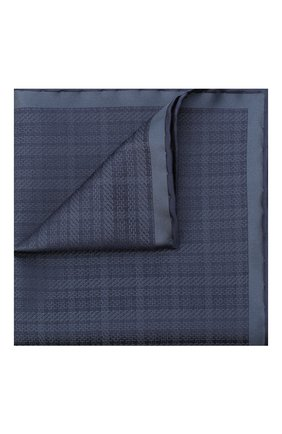 Мужской шелковый платок BRIONI темно-синего цвета, арт. 071000/0942X | Фото 1